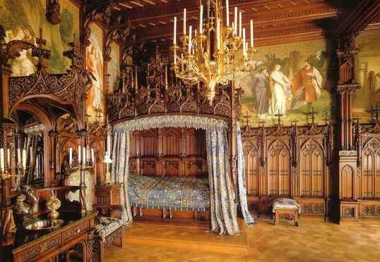Neuschwanstein-dormitorio-visitar