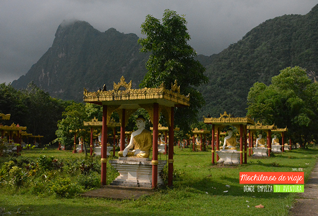 Un jardín de Budas