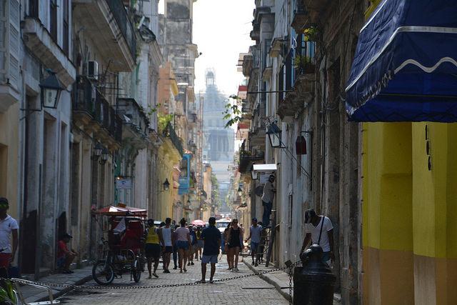El Capitolio desde La Habana vieja