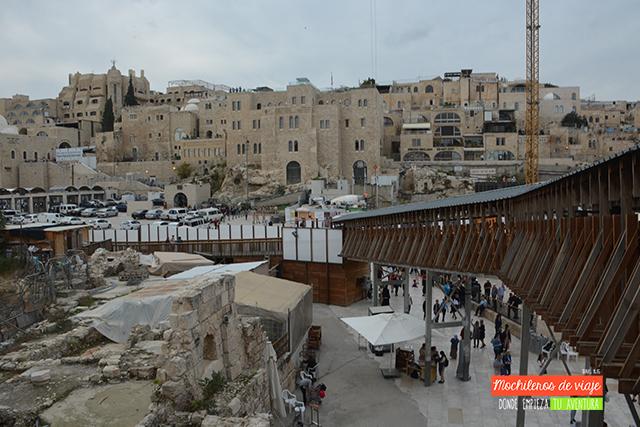 acceso para visitar la cúpula de la roca y la explanada de las mezquitas