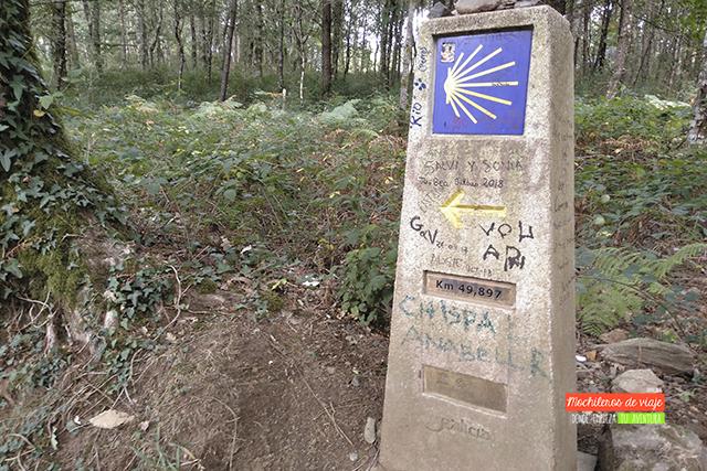 mojones últimos 100 kilómetros del Camino de Santiago desde Sarria