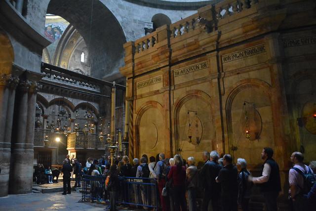 cola par visitar el santo sepulcro jerusalén