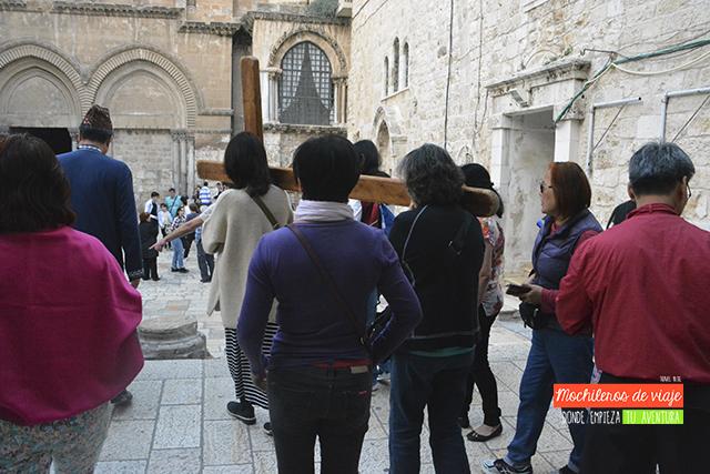 feligreses santo sepulcro jerusalén