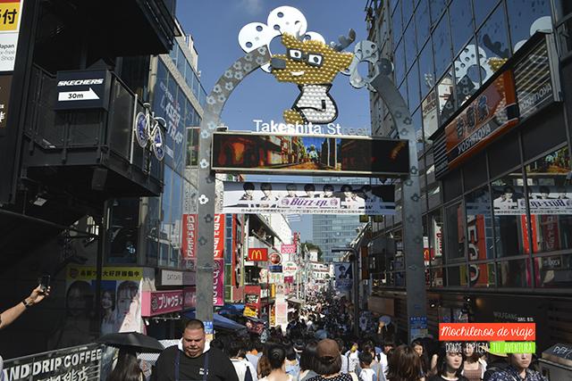 takeshita street ruta de viaje por japón de 21 dias