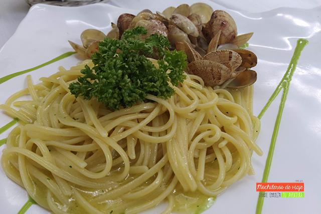 spaghetti a Vongnole népoles
