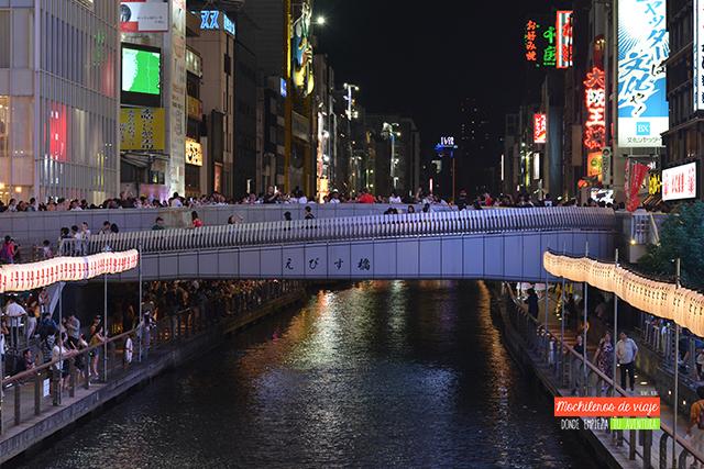 vista del puente ebisu bashi dotonbori