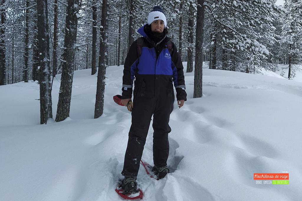 raquetas de nieve salla