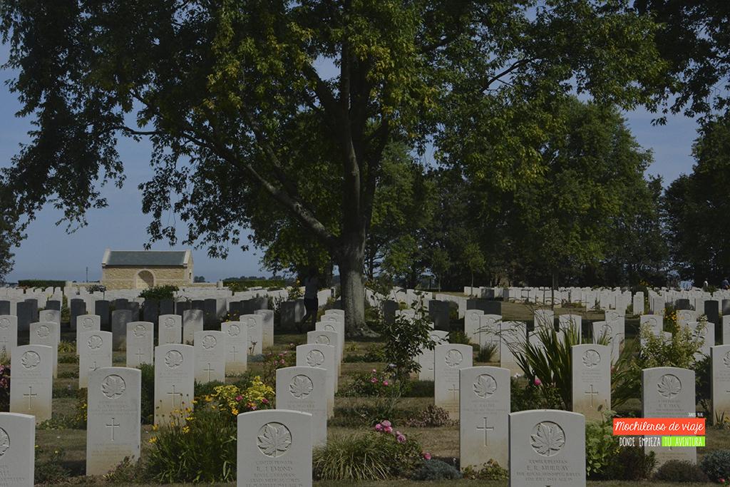 cementerio canadiense normandía
