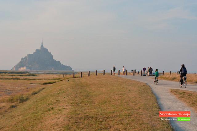 visitar el mont saint-michel en bici