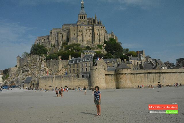 mont saint -michel con marea baja