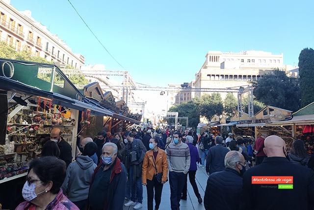 barcelona en navidad fira de santa llucia