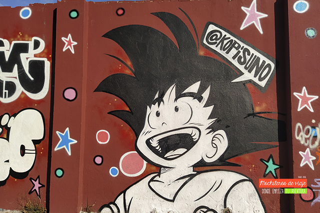graffiti goku poblenou