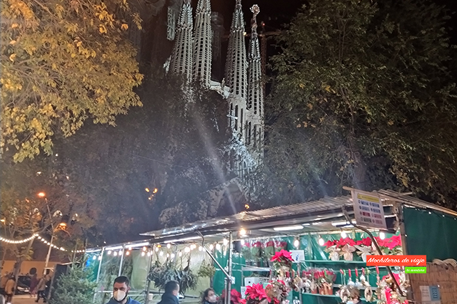 feria sagrada familia barcelona en navidad