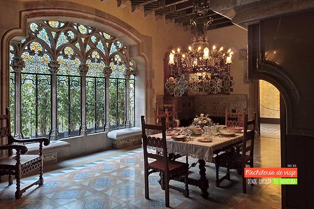 comedor casa amatller en barcelona
