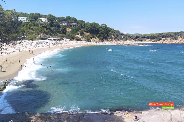 playa de sa conca camino de ronda de platja d'aro a s'agaró